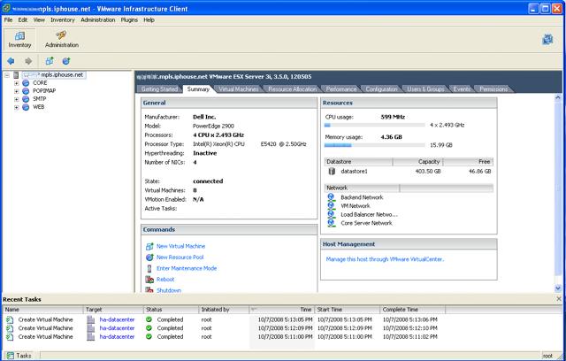 Screenshot of VI Client